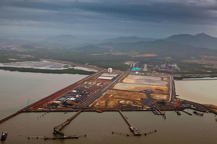 Gladstone Port development QLD - credit Greenpeace Tom Jefferson