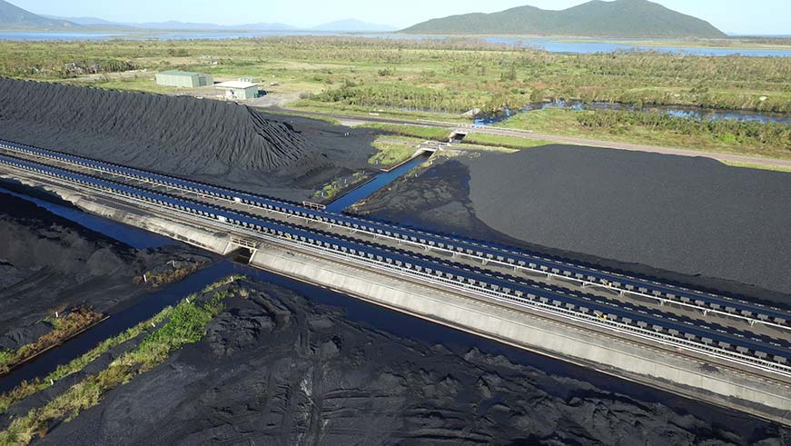 Adani's Abbot Point coal port near the Great Barrier Reef. Credit: Dean Sewell