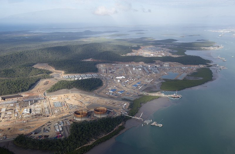 Image: Curtis Island LNG Plants, Queensland, Australia. Image Credit: GreensMPs
